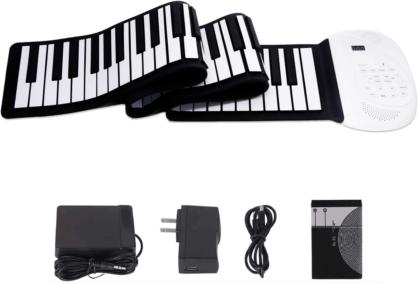 JAEZZIY Roll Ranking TOP16 Very popular Up Piano 88 Keys Electric Upgraded Keyboard