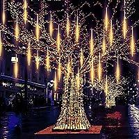 アイシクルライト、メテオライト、8チューブLED落下カスケードメテオライト、ホリデーパーティー用屋外防水メテオシャワーライト結婚式のクリスマスツリーの装飾,C,50cm