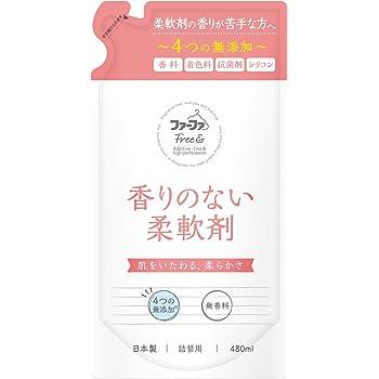 ファーファ フリー&柔軟剤濃縮無香料 詰替用 480ml