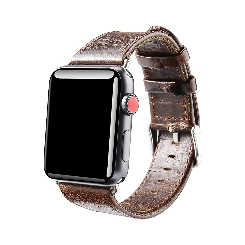 推進力小説トーナメントapple watch バンド レザー 42mm アップルウォッチバンド 革 ビジネス用 ベルト apple watch series 2 apple watch series 3 Apple Watch革ベルト 交換ベルト(42mm,コーヒー)