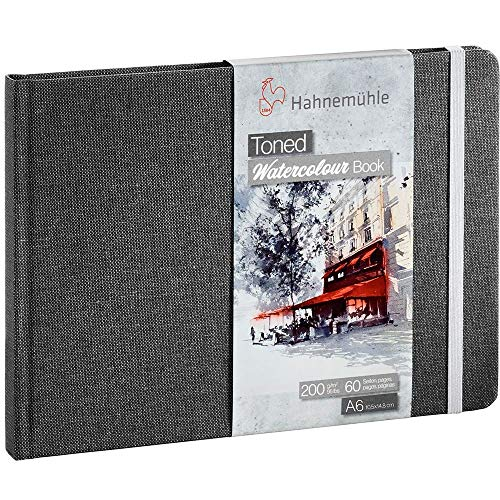 Hahnemuhle Toned Gray Watercolor Book A6, 30 Sheets