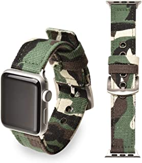 for Sport Nylon Strap Apple Watch 4 Band 44mm/40mm Apple Watch Strap 42mm/38mm iwatch Series 4/3/2/1 Correa Bracelet watchband,Green Silver Buckle, Apple Watch 44mm