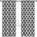 UNOSEKS LANZON - Cortina con líneas de diamante para ventana impresas, para...