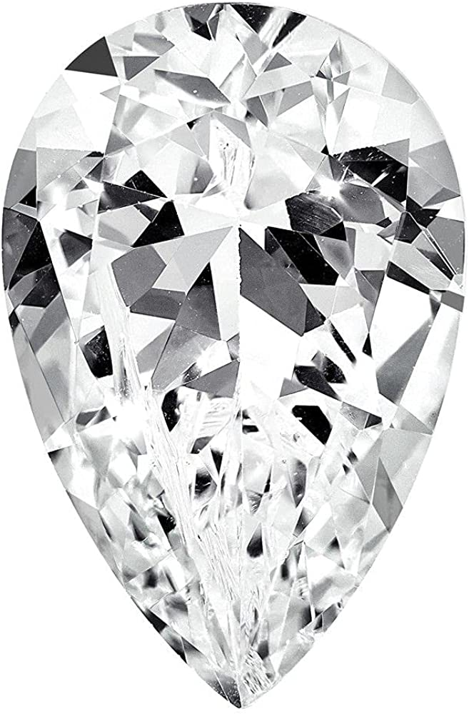 Jewelry-CUBIC Ranking TOP18 ZIRCONIA WHITE 9X6MM QUALITY A Super sale PEAR