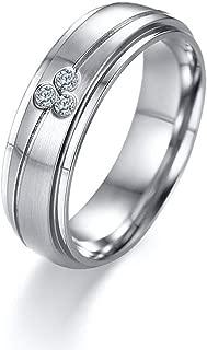 Gnzoe (1PC Men Ladies Ring, Surgical Steel Rings Men Women, Promise Engagement Wedding Bands 6MM