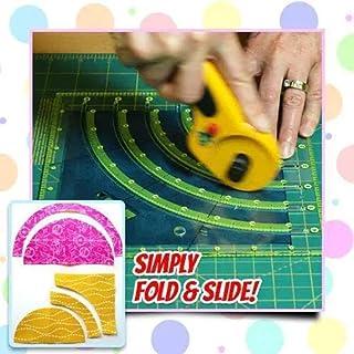 Regla de cortador de círculo de edredón de arcos y ventiladores, regla de mosaico de corte multifuncional Herramientas de artesanía de costura