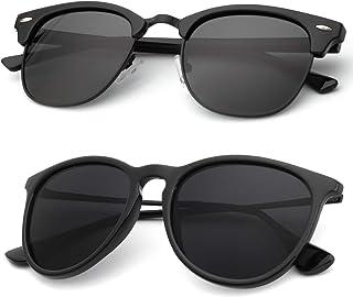 نظارات شمسية مستقطبة للجنسين كلاسيكية أنيقة للرجال والنساء عدسات مرآة اللون: حجب الأشعة فوق البنفسجية بنسبة 100%