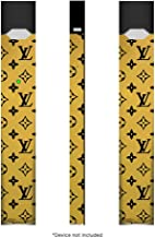 Ohana Graphix Official Pax JUUL Easy Wrap Skin (Device NOT Included) Vinyl Decal Protective Sticker for Juul Cig (Pack of 2, LV Black Mirror Gold)