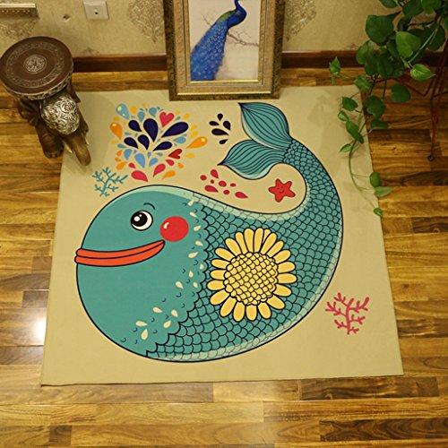 DWW Tapis carrés tapis rampants tapis de poussière de haute qualité (Couleur : A, taille : 120 * 120CM)