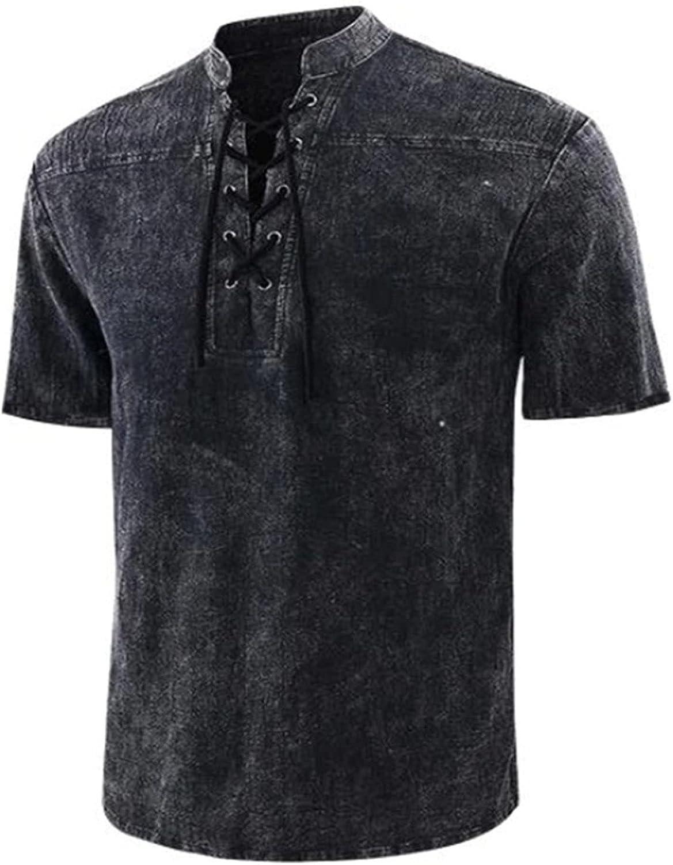 Men's Short Sleeve Hippie Shirts Yoga Mandarin price Bea Raleigh Mall Collar Casual
