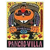 ZNNHEROJorge Gutiérrez Pancho Villa Lienzo Pintura Al Óleo Arte De La Pared Póster Impresión Decoración del Hogar-60X80Cmx1 Sin Marco
