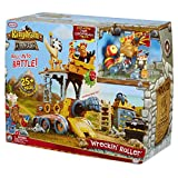 Little Tikes Kingdom Builders - Wreckin Roller Featuring Bashers Leader Captain Cannonblast with 25+ Roller Pieces Including Dropping Balcony, Shooting Iron Fist, Cannon, and Many More   Kids Ages 3+
