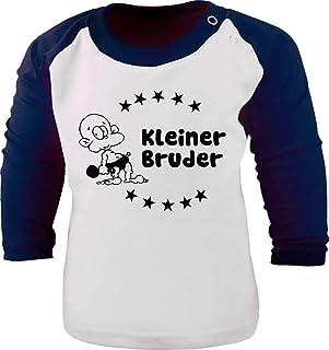 KLEINER FRATZ Baby/Kinder Baseball Langarm T-Shirt - Kleiner Bruder