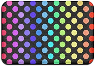 Doormats Entrance Mat Rainbow Polka Dot Front Door Mats Outdoors/Indoor/Bathroom/Kitchen/Bedroom/Entryway Floor Mats,Non-S...