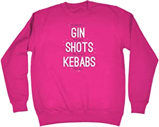 123t Funny Novelty Funny Sweatshirt - Today Its Gin Not Gym - Sweater Jumper