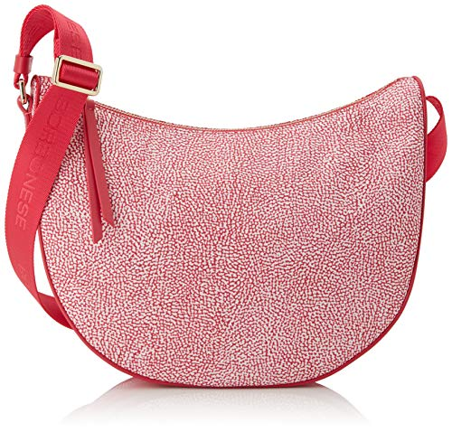 Borbonese Luna Bag, Borsa a Tracolla Donna, Rosa (Ravanello), 30x32x12 cm (W x H x L)
