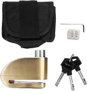 Motorcycle Anti-theft Disc Brake Lock, Motorcycle Bike Waterproof Wheel Brake Disc Mechanical Alarm Security Lock (gold)