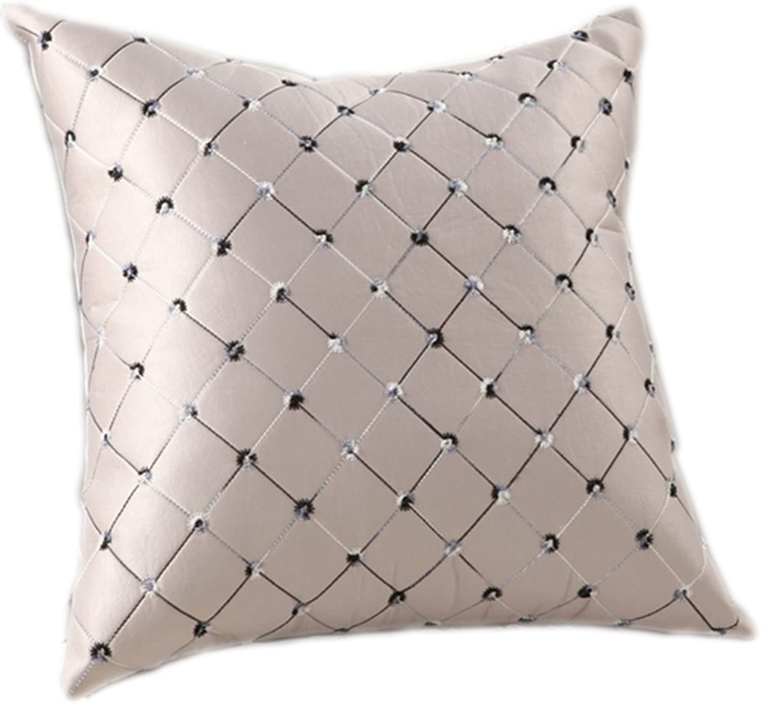 Home Cloth Embroidered Lattice Cushions Backrest Office Waist Pillow (color   6 , Size   5555cm)