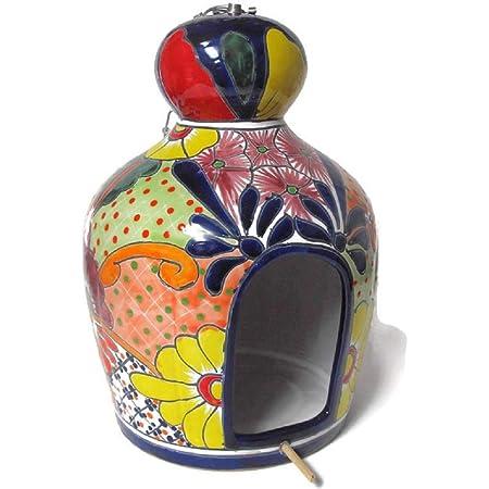 Bird House Large Talavera Mexican Ceramic Pottery Hanging Planter Various Colors