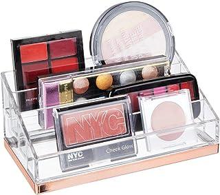 mDesign organisateur maquillage pratique – rangement maquillage décoratif pour vernis et poudre – range maquillage avec 4 ...