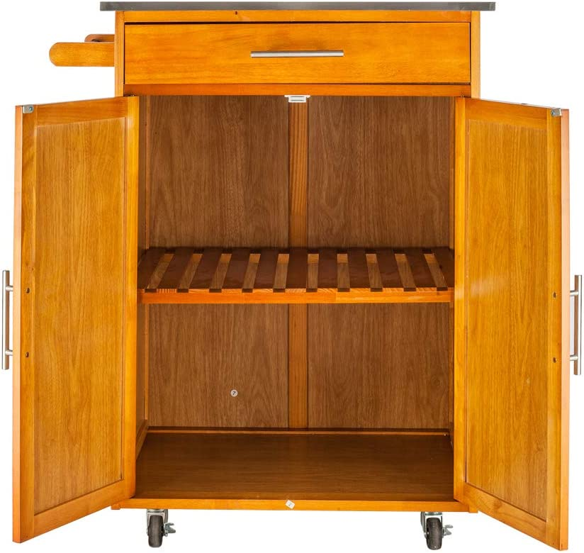 FCH Wooden Kitchen Rolling Louisville-Jefferson County Mall Island Cart Ranking TOP17 Cabinets Stor for