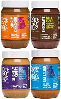Don't Go Nuts Roasted Soybean Spread, Variety Pack, 4 Count, Nut-Free Non GMO Organic