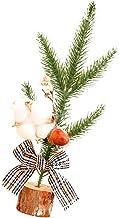 TOYANDONA Mini Christmas Tree Tabletop Artificial Handmade Small Christmas Tree Xmas Holiday Table Decorations (Random Style)