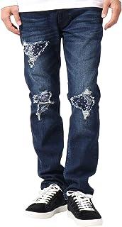 [ガッチャ] GOTCHA ジーンズ バンダナ リベア加工 インディゴ デニム パンツ 183G1811