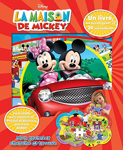 Mickey: Coffret Livre + Puzzle + 20 autocollants