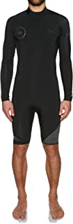 Quiksilver Syncro Series 2MM Long Sleeve Back Zip Shorty Wetsuit Wetsuit Jet Black - Lightweight Materials