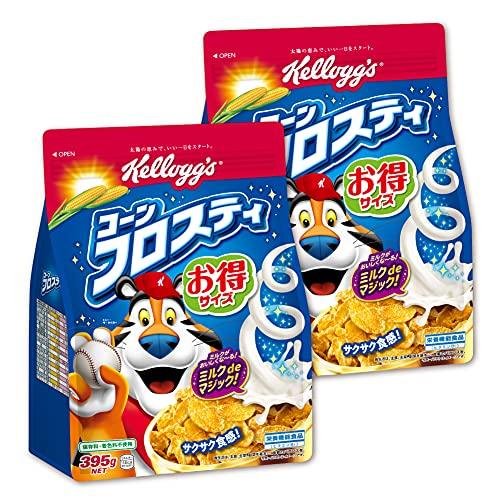 【Amazon.co.jp限定】 ケロッグ コーンフロスティ 徳用袋 395gx2個セット【セット買い】