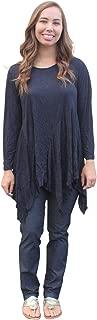 Women's Dee Crinkle Tunic in Black