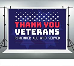 Soldier Veterans Thank Blue Stars Backdrop for Photography Party, 9x6FT, Military US Army Background, Photo Booth Studio Props DSLU218