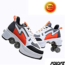 KYOKIM Zapatos con Ruedas Zapatillas De Skate para Mujeres Hombres Niños Zapatos con Ruedas para Niños Zapatillas con Ruedas Zapatos Cuatro Rondas De Zapatillas para Correr Patines con Ruedas,I-39