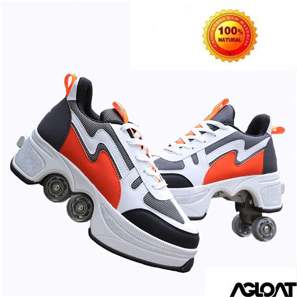 KYOKIM Zapatos con Ruedas Zapatillas De Skate para Mujeres Hombres Niños Zapatos con Ruedas para Niños Zapatillas con Ruedas Zapatos Cuatro Rondas De Zapatillas para Correr Patines con Ruedas,I-41: Amazon.es: Hogar