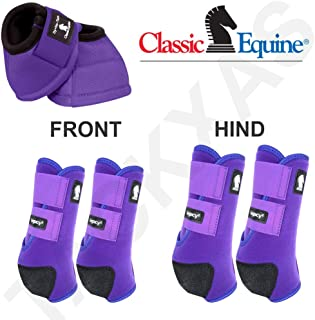 Classic Equine Sml Horse Legacy2 Front Hind Bell Sport Boots Purple