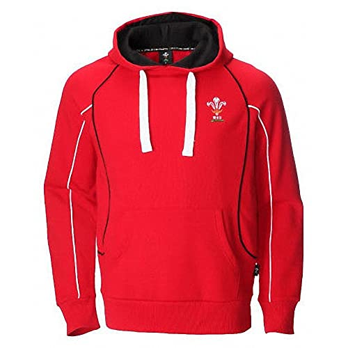 372ceebd6cccd NEW MENS WOMENS WELSH WALES ZIP UP OFFICIAL WRU RUGBY WARM RED HOODIE TOP W-