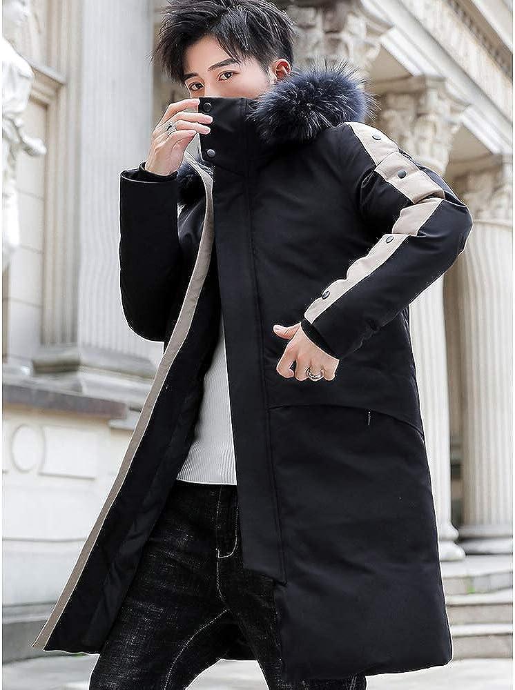 Down Jacket Winter Men's Jacket, Medium Length, Hooded Thicken Winter Clothing, Padding: Imitation Silk Cotton (Size: M, L, XL, 2XL, 3XL) Black