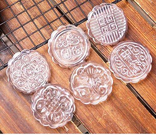 QPSSP Muffa, Crystal, Ghiaccio, Crosta, Dolcetto della Luna della Torta di Fagioli Mungo della Mano di Tipo Domestico Stampa Cucinare per 50/100