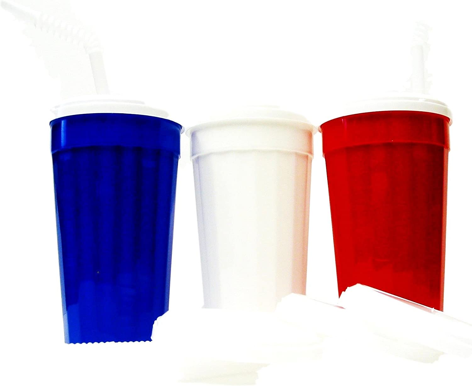 9 Large 32 Ounce Tumblers Mix of a 2021 spring and SALENEW very popular! summer new Lids Red Blue White