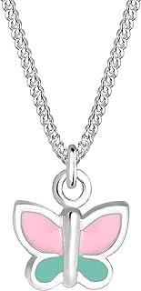 Elli 0104991017_36 - Cadena infantil con colgante de mariposa (plata 925, esmaltada, 36 cm)
