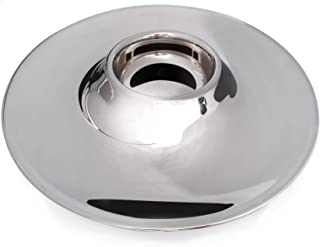 Stainless Steel Round Serving Plates 13.4 Inch. Multipurpose Stainless Steel Tray Ideal for Salad or Food. Decorative Serving Plate for Home & Kitchen. Heavy Duty and Dishwasher Safe.