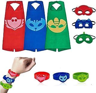 لباس کودکان و نوجوانان 3 پاکت ، لباس مجلسی با ماسک و دستبند سیلی ، جشن تولد لوازم جشن تولد دختران پسر
