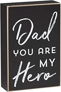 Collins Painting 'Dad You are My Hero' Decorative Wood Block Sign