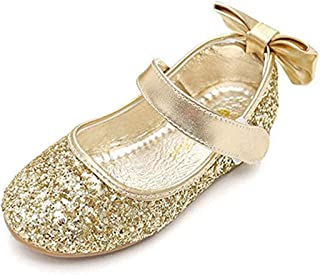 Girl Round-Toe Sparkle Bowknot Ballet Ballerina Flat Shoes