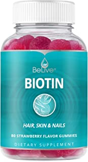 Sponsored Ad - Biotin Gummies 10,000mcg Highest Potency, Hair Growth, Supports Healthier Hair, Skin and Nail, Vegan, Pecti...
