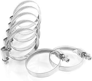Garsiduro® 10 stuks DIN3017 professionele slangklemmen 50-70 mm in W4 industriële kwaliteit van V2A roestvrij staal, slang...
