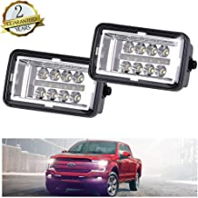Upgrade LED Fog Lights Compatible for 2015-2019 Ford F150 4 Inch LED Fog Light Assembly Kit with DRL,40W CREE Waterproof LED Bumper Lamps Daytime Running Lights Set,1Pair - KIWI MASTER