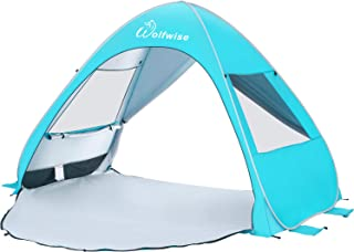 WolfWise UPF 50+ Easy Pop Up Beach Tent Sun Shelter Instant Automatic Portable Sport Umbrella Indoor Playhouse Baby Canopy Cabana