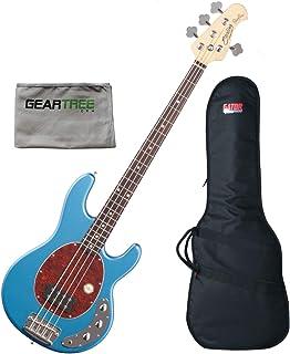 $499 Get Sterling RAY24CA-TLB-R1 StingRay Classic, Toluca Lake Blue 4 String Bass w/Gear